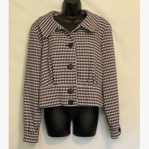 NWT Worthington houndstooth button up